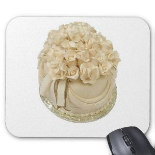 Wedding Cake Frosting Roses Mouse Pads
