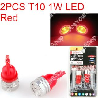 Car LED T10 194 W5W 1W Wedge Light Bulb Lamp SMD Red
