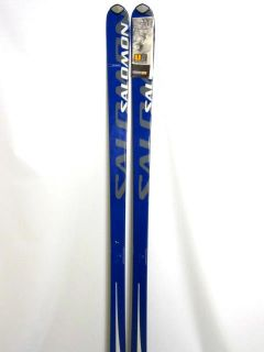 190 cm SALOMON SUPERAXE 7.3 Carving Ski in blau/silber mit Bindung
