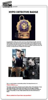 NYPD Detective Police Badge   Full Size