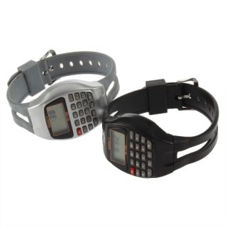 Rectangle Style Multi Purpose Electronic Wrist Calculator Watch New