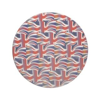 Uk Wavy Flag Wallpaper Drink Coaster