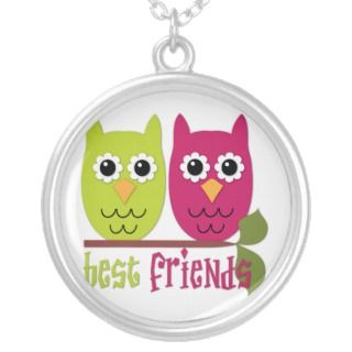 Cute Best Friends Owls Pendant