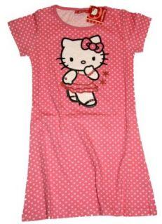 HELLO KITTY  Sommer Nachthemd pink/weiß   128 Bekleidung