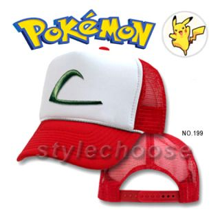 Nintendo Pokemon ASH KETCHUM Cap EMBROIDERED Hat Hut Kappe chapeau