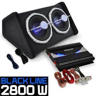 Boxenset Autoboxen Set Black Line 140 25cm Elektronik
