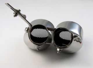 Chrom Auspuffblende Mercedes W203 C200 C230 Kompressor