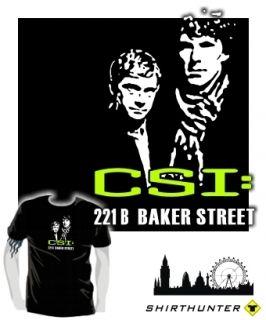 Shirt * CSI 221 BAKER STREET Sherlock Holmes VS CSI Miami Parodie