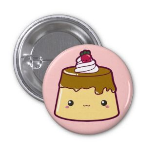 Cute Flan with Strawberry & Cream Pin