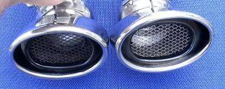 Chrom ENDROHRE Auspuffblende Mercedes W211 BENZIN