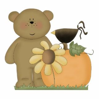 autumn fall teddy bear cutie photo cut out