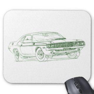 Dodge Challenger TA 1970 Mousepad