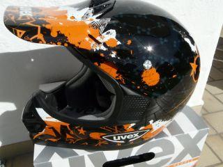 Moto Cross Helm UVEX SX 215 UVEX Neu M black orangeKTM