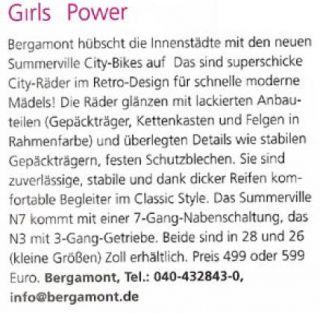 Bergamont °Summerville N7° Classic City Fahrrad Rh 48