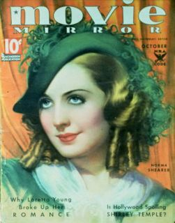 Norma Shearer   Movie Mirror Magazine Cover 1930s Masterprint