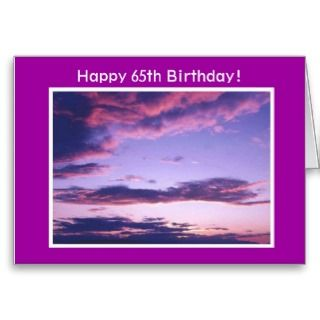 Happy 65th Birthday Card Sunset