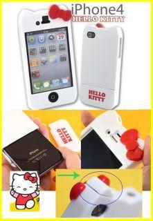iPhone 4S 4G Sanrio Hello Kitty BLACK WHITE YELLOW GREEN Hard Case