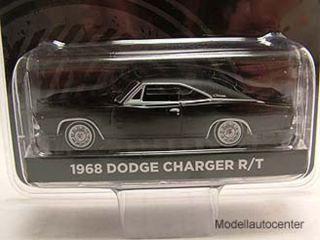Dodge Charger R/T 1968 schwarz Bullitt Steve McQueen, Modellauto 164