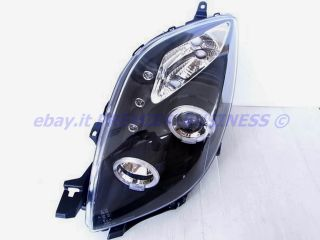 FARI YARIS 2 ANGEL EYES CROMO O BLACK + LED STYLE AUDI