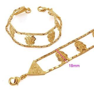 Goldschmuck 750/18K Gold vergoldet Armband Kette Uhrkette 220X18mm