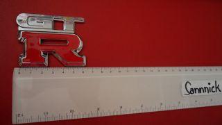 Nissan GTR SCHRIFTZUG NEU R32 GTS R34 350Z PULSAR Chrome Car Badge