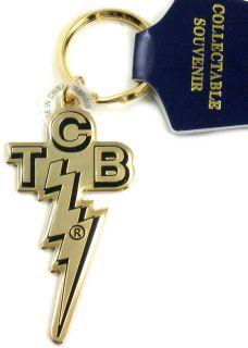 Elvis Presley TCB Logo Epoxy Keychain