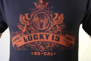 LUCKY 13 Griffin Wheel Rockabilly Motorcycle T Shirt