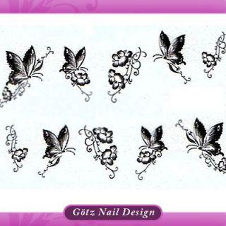 One Stroke Sticker  Pinsel Malerei Tattoo Nail Art #246