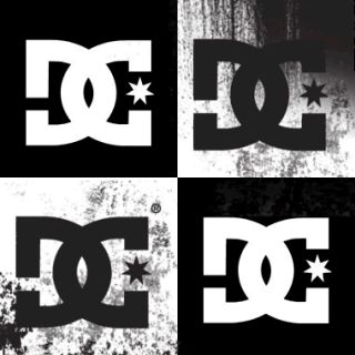 Large 8 DC Shoes Sticker Window Decal Truck Skate Rob