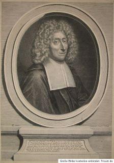 c1700 Pinette Nicolas Rat Hospitaldirektor Paris Kupferstich Porträt