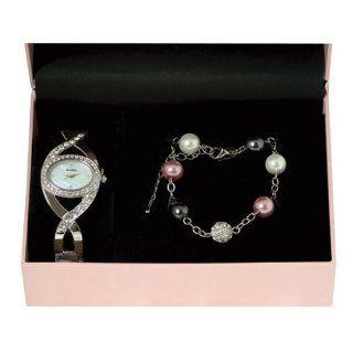Henley Damen Armbanduhr Henley Ladies Diamante Watch and Matching
