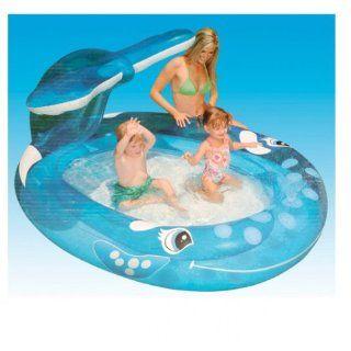 Kinder Schwimmbad Planschbecken Sprühender Wal Pool Wasserbecken