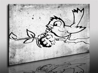 Banksy Graffiti Leinwandbild Street Art   Kunstdrucke Wandbilder k
