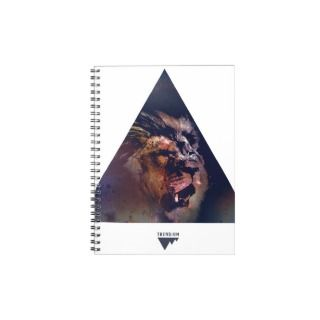 Galaxy Triangle Lion Head   Trendium Authentic Journal