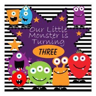 Custom Little Monster Birthday Invites