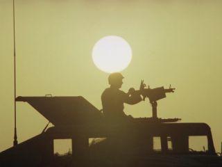 Saudi Arabis Army U.S. Air Force Security Policeman M 60 Machine Gun Photographic Print by Bob Daugherty