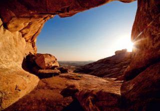 Fototapete Tapete Sunset Landschaft Berge Foto 360 cm x 254 cm