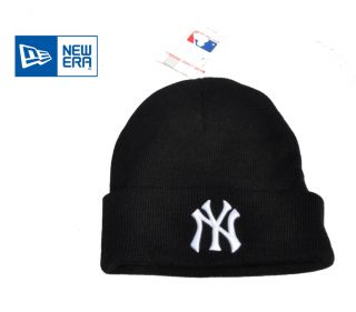 New Era New York Yankees Black Woolly/ Beanie Hat