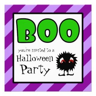Halloween Party Invitations Little Meanie BOO