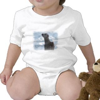 WINTER LAMANCHA KID BABY GOAT IN SNOW BODYSUIT