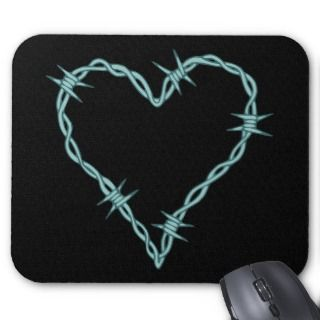 Barbed Wire Heart Mouse Mats