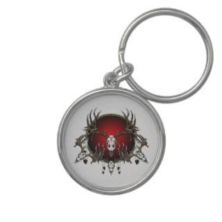 Deer skulls key chain