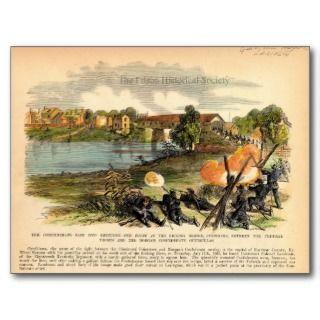 American Civil War Morgans Raid into Kentucky Post Card