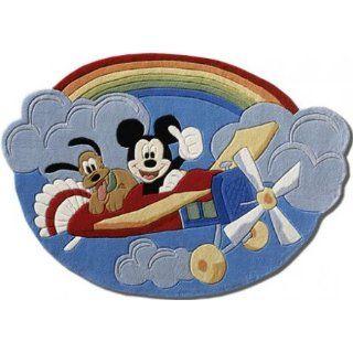 Kinderteppich Disney Mickey Mouse Pluto Flugzeug 168x115cm