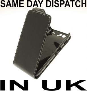 BLACK LEATHER FLIP CASE COVER POUCH FOR MOTOROLA RAZR XT910