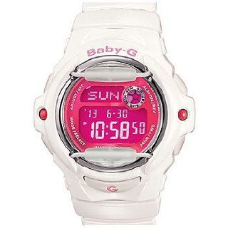Casio BG169R 7D Womens Baby G White Digital Pink Dial Sports Watch