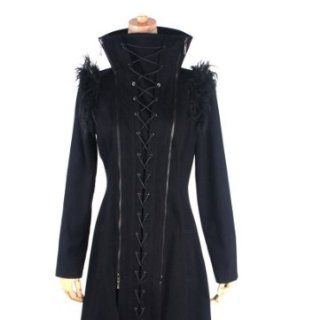 Jacke Mantel Fell asymmetrisch Punk Rave Rockabilly Gothic Jacket Coat