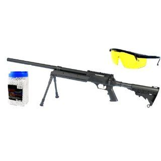 Intervention Metall Softair Sniper Rifle Set  Tactical Black inkl