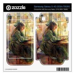 Young girl writing by Berthe Morisot Samsung Galaxy S 4G Skins