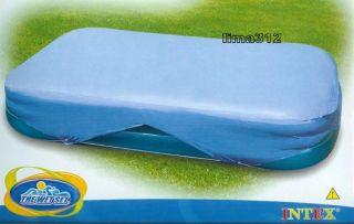 Intex Abdeckplane, Pool Abdeckung eckig, Planschbecken 262x175 cm und